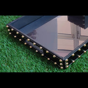 Leatherette Studded Bedside/ Office Tray -View 1