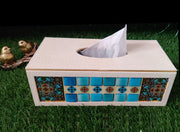 Premium Leatherette Mosaic work Tissue box