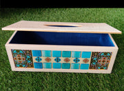 Premium Leatherette Mosaic work Tissue box -View 1