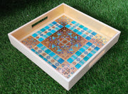 Premium Leatherette Mosaic Work Tray
