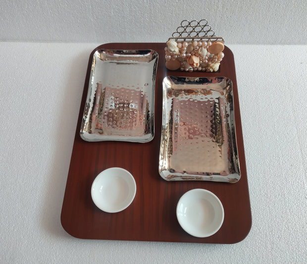 Double Rectangle Platter With Tissue Holder