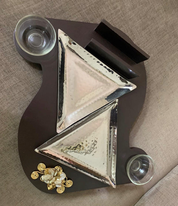 S-Shaped Double Triangle Snacks Platter