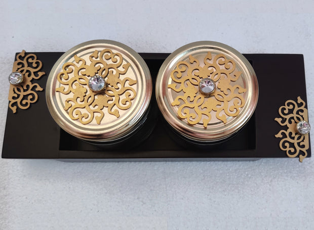 Mukhwas/ Jar Set of 2 Jars  -View 1