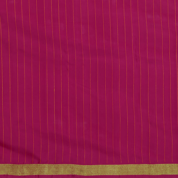 SIGNORAA SHOT ORANGE KANCHIPURAM SOFT SILK SAREE-KSL02607- Blouse View