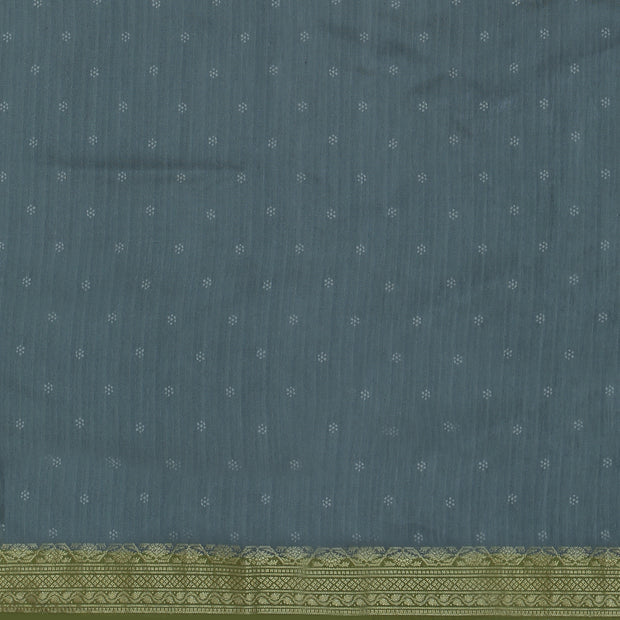 SIGNORAA OLIVE GREEN TUSSAR SILK SAREE-PTS04691- Blouse View