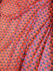 Signoraa Light Orange and Pink Banarasi Georgette Unstitched Fabric-PMT01925