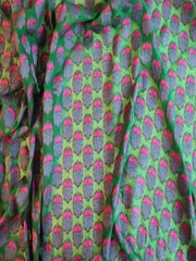 Signoraa Bottle Green Banaras Georgette Unstitched Fabric-PMT01925B