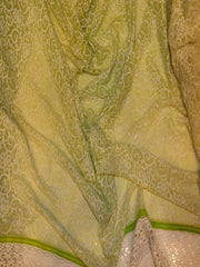 Signoraa Light Green Georgette Unstitched Fabric-PMT03924