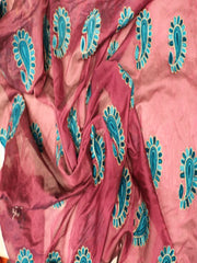 Signoraa Purple Chanderi Cotton Unstitched Fabric-PMT01889