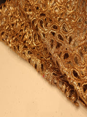 Signoraa Gold Cutwork Unstitched Fabric-PMT03995