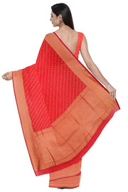 SIGNORAA RED BANARASI SILK COTTON SAREE-BSK08306- Model View 2
