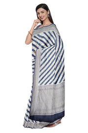 SIGNORAA GREY BANARASI KHADDI GEORGETTE SAREE-CHG03662- MODEL VIEW 1