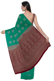 SIGNORAA GREEN KANCHIPURAM SILK SAREE-KSL02571- Model View 2