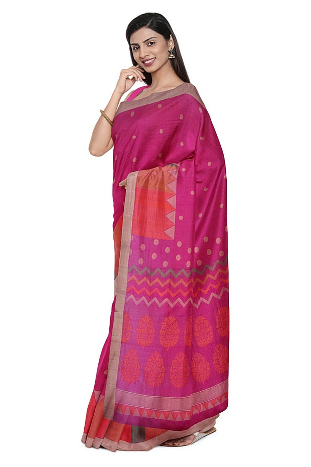 SIGNORAA RANI PINK KANCHIPURAM SILK SAREE-KSL02579- Model View 1