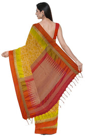 SIGNORAA OIL MUSTARD KANCHIPURAM SILK SAREE-KSL02590- Model View 2