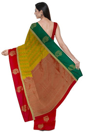 SIGNORAA MUSTARD KANCHIPURAM SILK SAREE-KSL02604- Model View 2