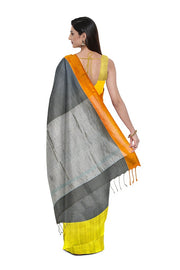 SIGNORAA GREY ORGANZA SAREE-PTS04411- Model View 2