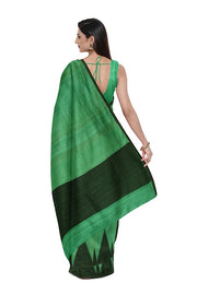 SIGNORAA DARK GREEN BANARASI TUSSAR SAREE-BSK08104- Model View 2