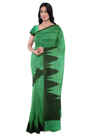 SIGNORAA DARK GREEN BANARASI TUSSAR SAREE-BSK08104- Model View