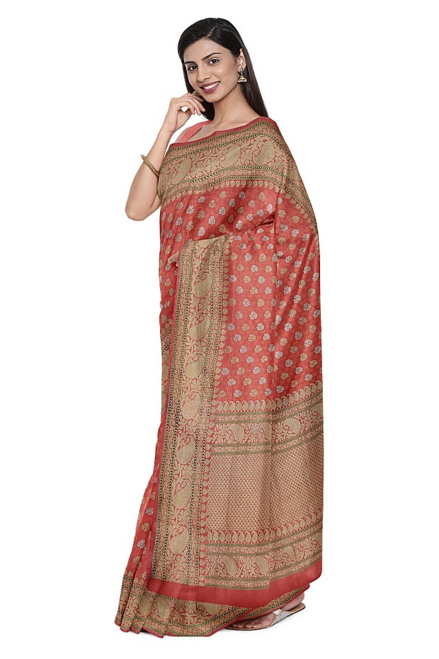 SIGNORAA PINK BANARASI SILK SAREE-BSK08890- Cover View