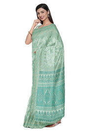 SIGNORAA PASTEL BLUE BANARASI SOFT TUSSAR SAREE-BSK08892- Model View