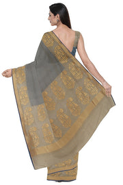 SIGNORAA GREY BANARASI SILK SAREE-BSK08897- Model View 2