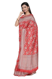 SIGNORAA CORAL BANARASI SILK SAREE-BSK08962- Model View 1