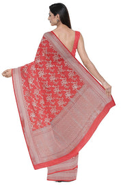 SIGNORAA CORAL BANARASI SILK SAREE-BSK08962- Model View 2