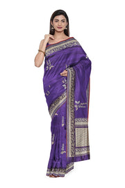 SIGNORAA PURPLE BANARASI SILK SAREE-BSK08965- Model View