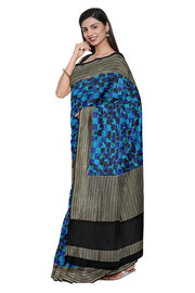 SIGNORAA DARK BLUE BANARASI SILK SAREE-BSK08968- Model View