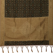 SIGNORAA BROWN DAILY WEAR TUSSAR SAREE-BLN00078- Full View