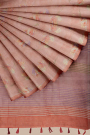 SIGNORAA ONION PINK DAILY WEAR TUSSAR SAREE-SASYN06459- Cover View
