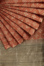 SIGNORAA RED BANARASI SILK SAREE-BSK06357- Cover View