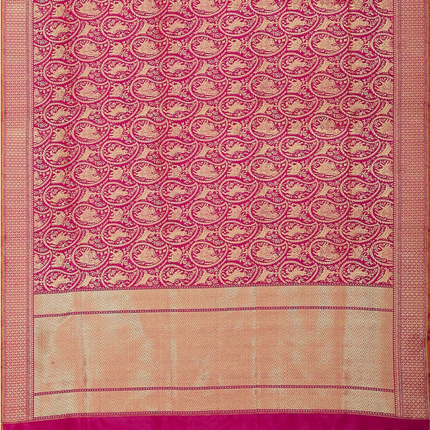 SIGNORAA PINK BANARASI SILK SAREE-BSK07133- Full View