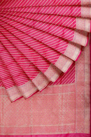 SIGNORAA SHOT RANI PINK BANARASI SILK SAREE-BSK08557- Cover View
