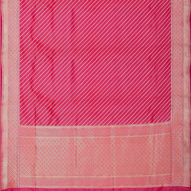 SIGNORAA SHOT RANI PINK BANARASI SILK SAREE-BSK08557- Full View