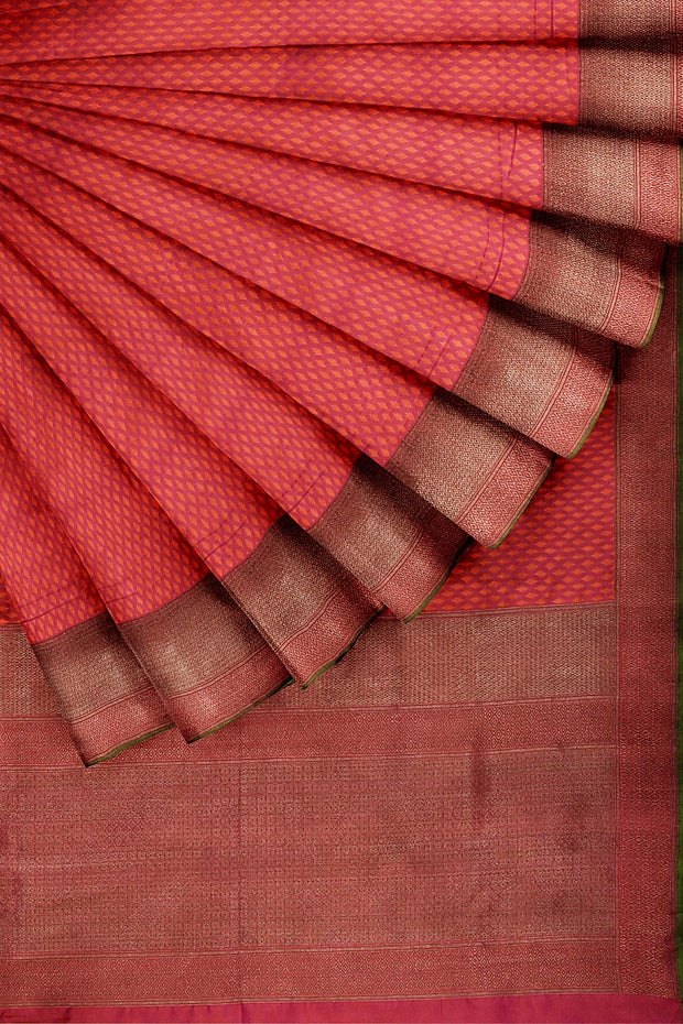 SIGNORAA SHOT RANI PINK BANARASI SILK SAREE-BSK08077- Cover View