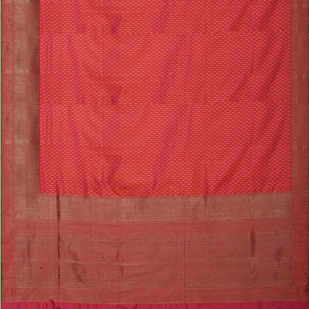 SIGNORAA SHOT RANI PINK BANARASI SILK SAREE-BSK08077- Full View