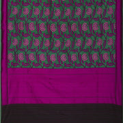 SIGNORAA GREEN BANARASI SILK SAREE-BSK03842- Full View