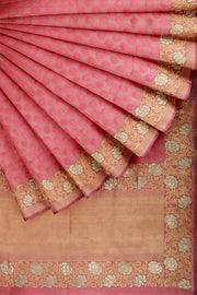 SIGNORAA PINK BANARASI SILK SAREE-BSK08967- Cover View
