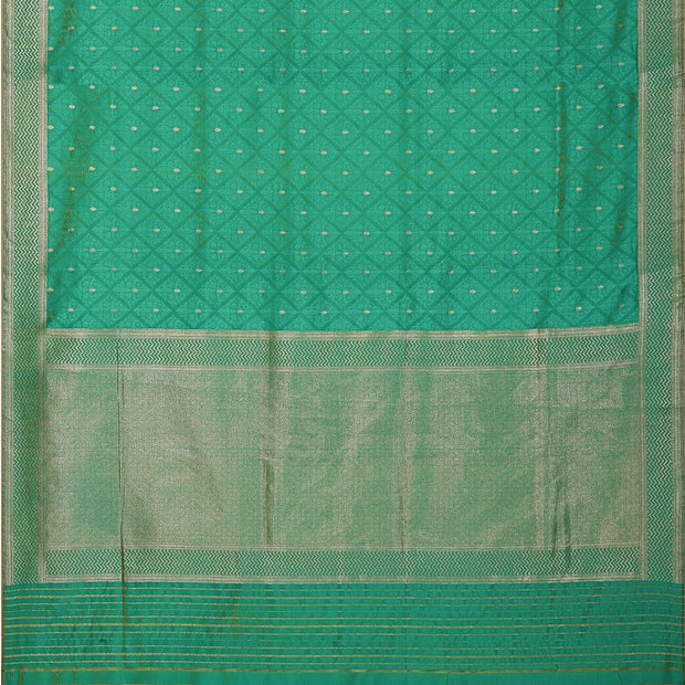 SIGNORAA SEA BLUE BANARASI SILK SAREE-BSK09028- Full View