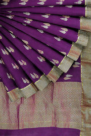 SIGNORAA MAGENTA CREPE SILK SAREE-CRP00849- Cover View