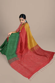 SIGNORAA MULTICOLOUR KANCHIPURAM SOFT SILK SAREE-KSL02549- Model View 2