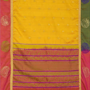 SIGNORAA MUSTARD KANCHIPURAM SOFT SILK SAREE-KSL02605- Full View