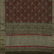 SIGNORAA MAROON TUSSAR SILK SAREE-PTS04698- Full View