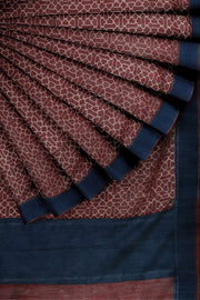 SIGNORAA MAROON TUSSAR SILK SAREE-PTS04705A- Cover View