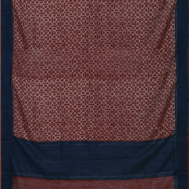 SIGNORAA MAROON TUSSAR SILK SAREE-PTS04705A- Full View