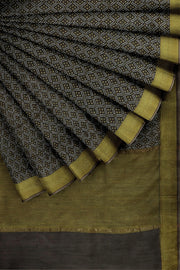 SIGNORAA BROWN TUSSAR SILK SAREE-PTS04705- Cover View