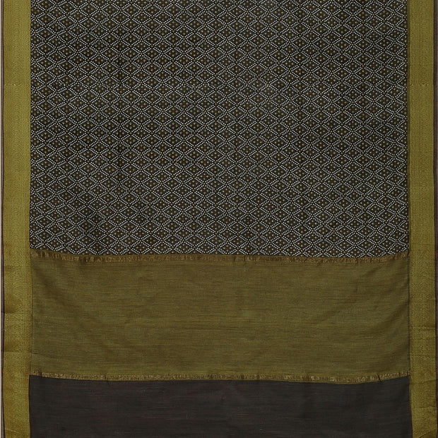 SIGNORAA BROWN TUSSAR SILK SAREE-PTS04705- Full View