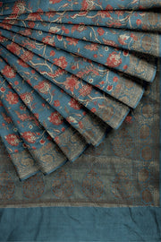SIGNORAA GREYISH BLUE TUSSAR SILK SAREE-PTS04737- Cover View